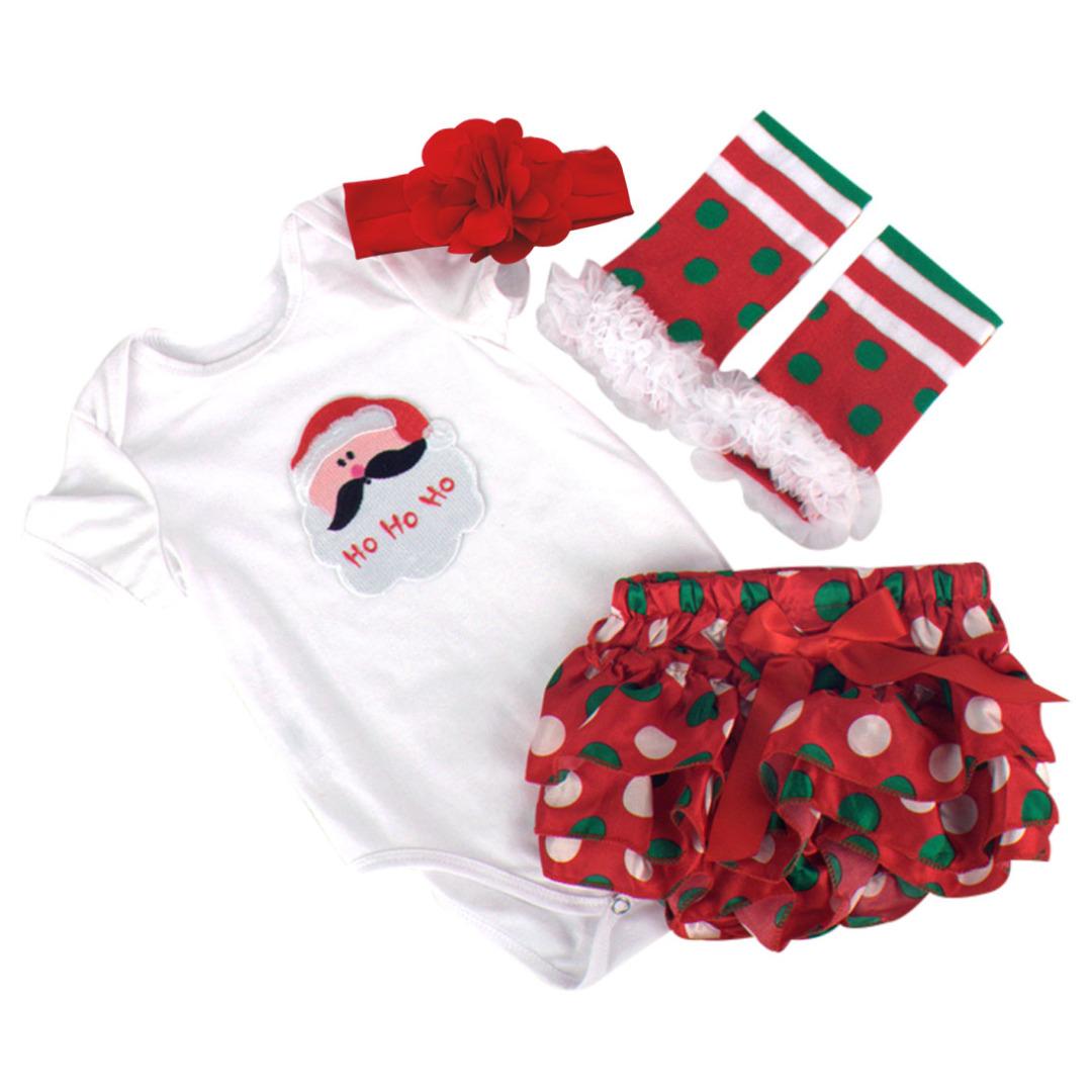 Polka-Dot Santa Outfit (4pc-set)