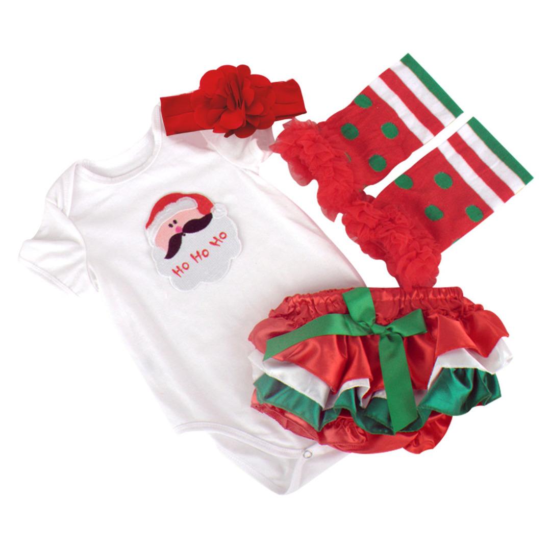 Striped Santa Outfit (4pc-set)