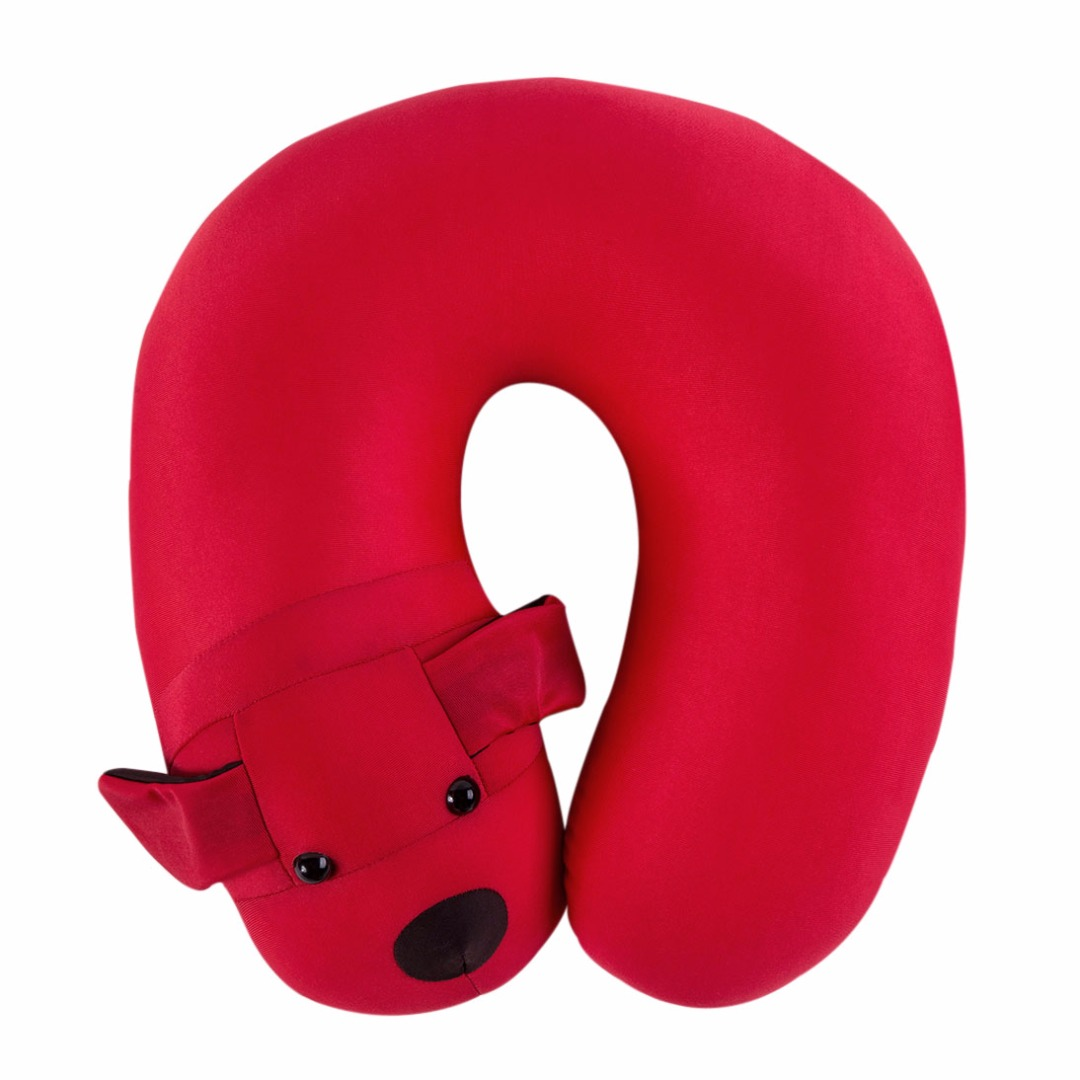Dog U-Neck Pillow in Red