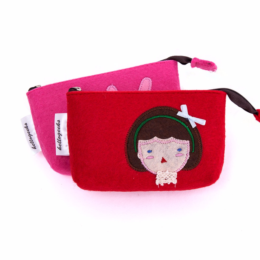 Deluxe Rabbit & Girl Coin Purse (2 pack)