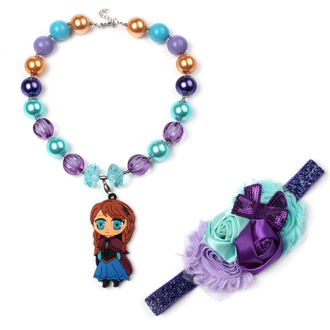 Woodland Princess Necklace & Headband (2pc-set)