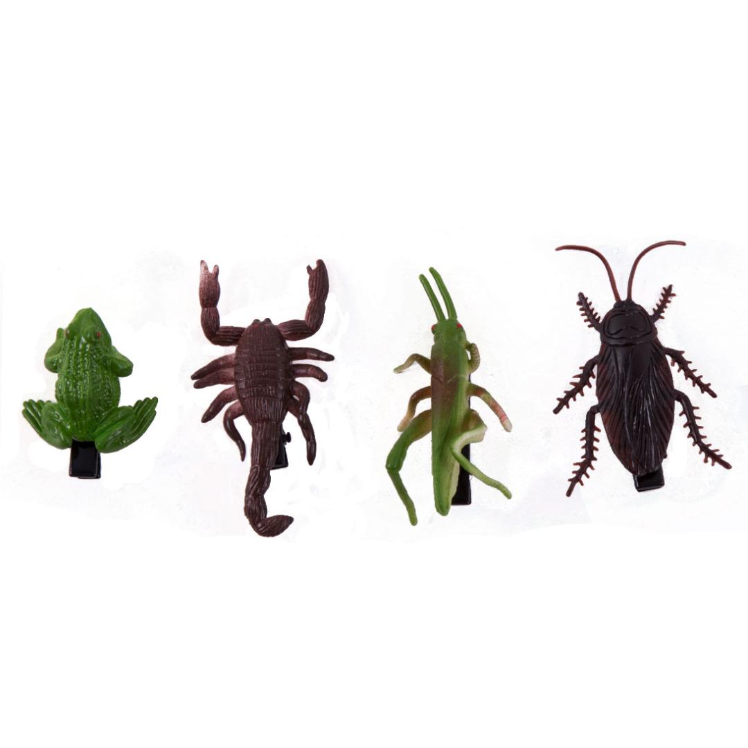 Creepy Crawlers Hair Clips (4 pack)
