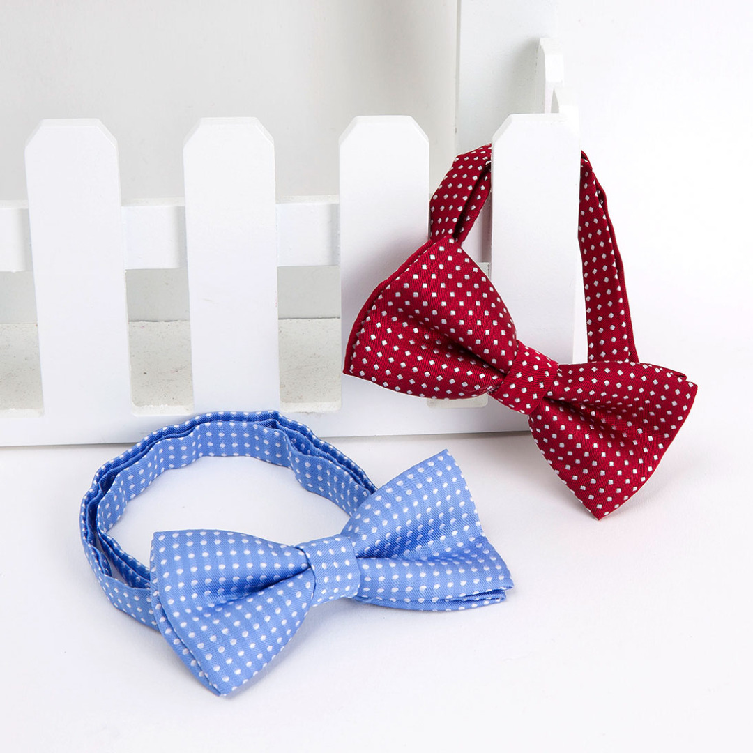 Polka-Dot Bowties in Red & Blue (3 pack)