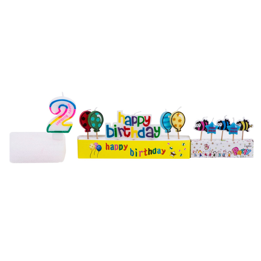 Number 2 Birthday Candles (11pc-set)