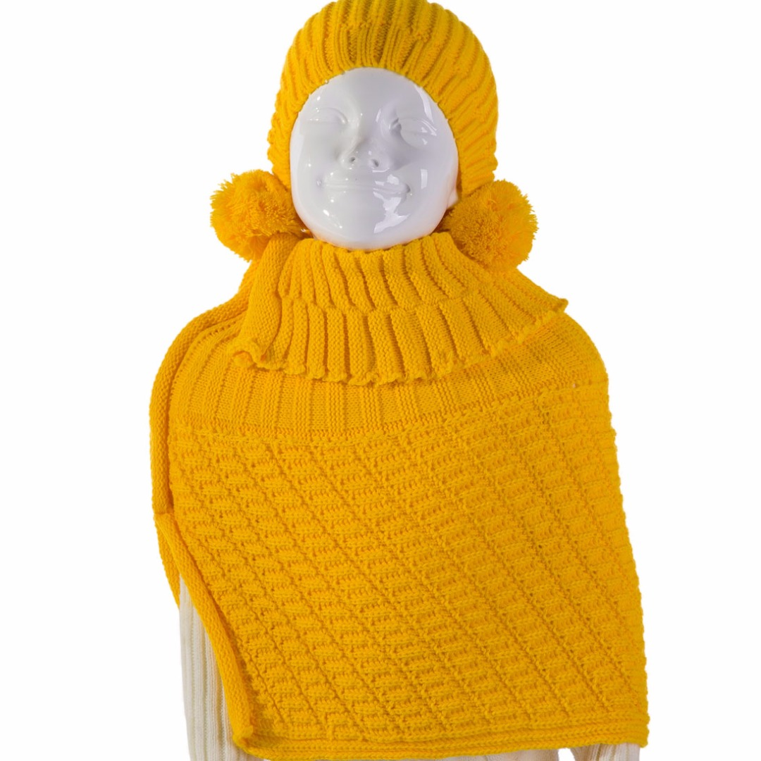 Lil' Puffball Set in Yellow (2pc-set)