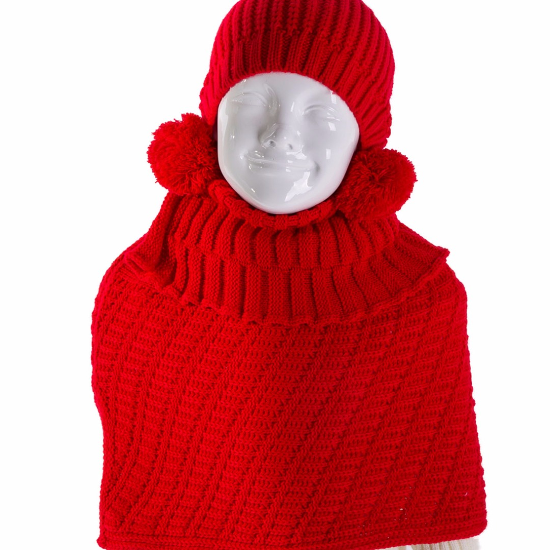 Lil' Puffball Set in Red (2pc-set)