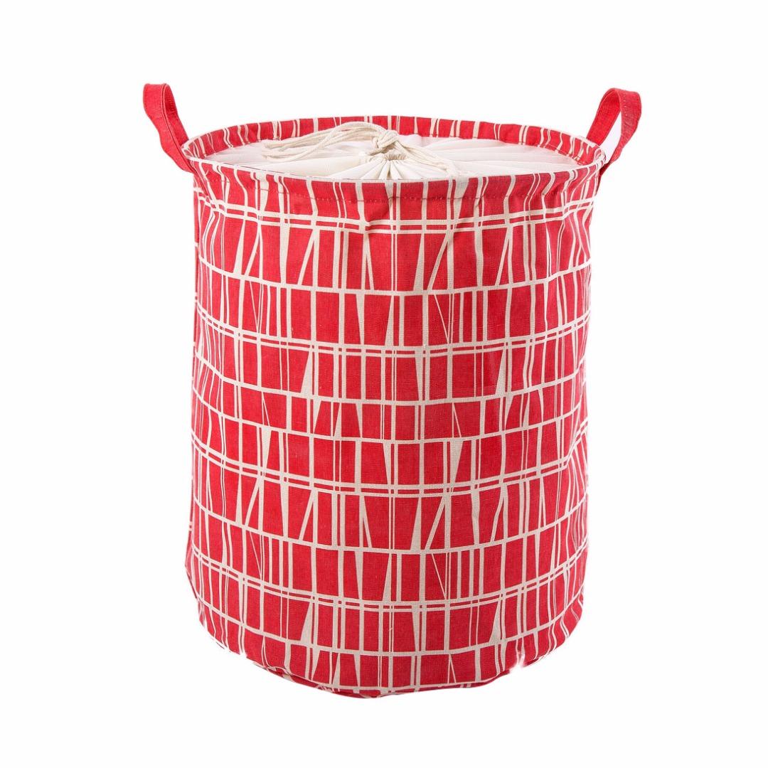 Mini Laundry Hamper in Red