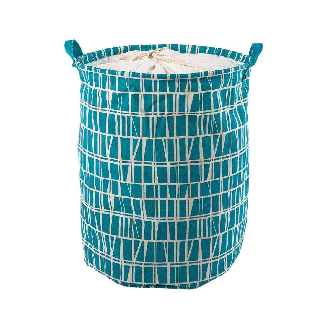 Mini Laundry Hamper in Blue