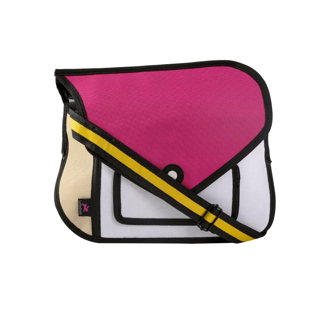 3D Color-Block Cartoon Hand Bag