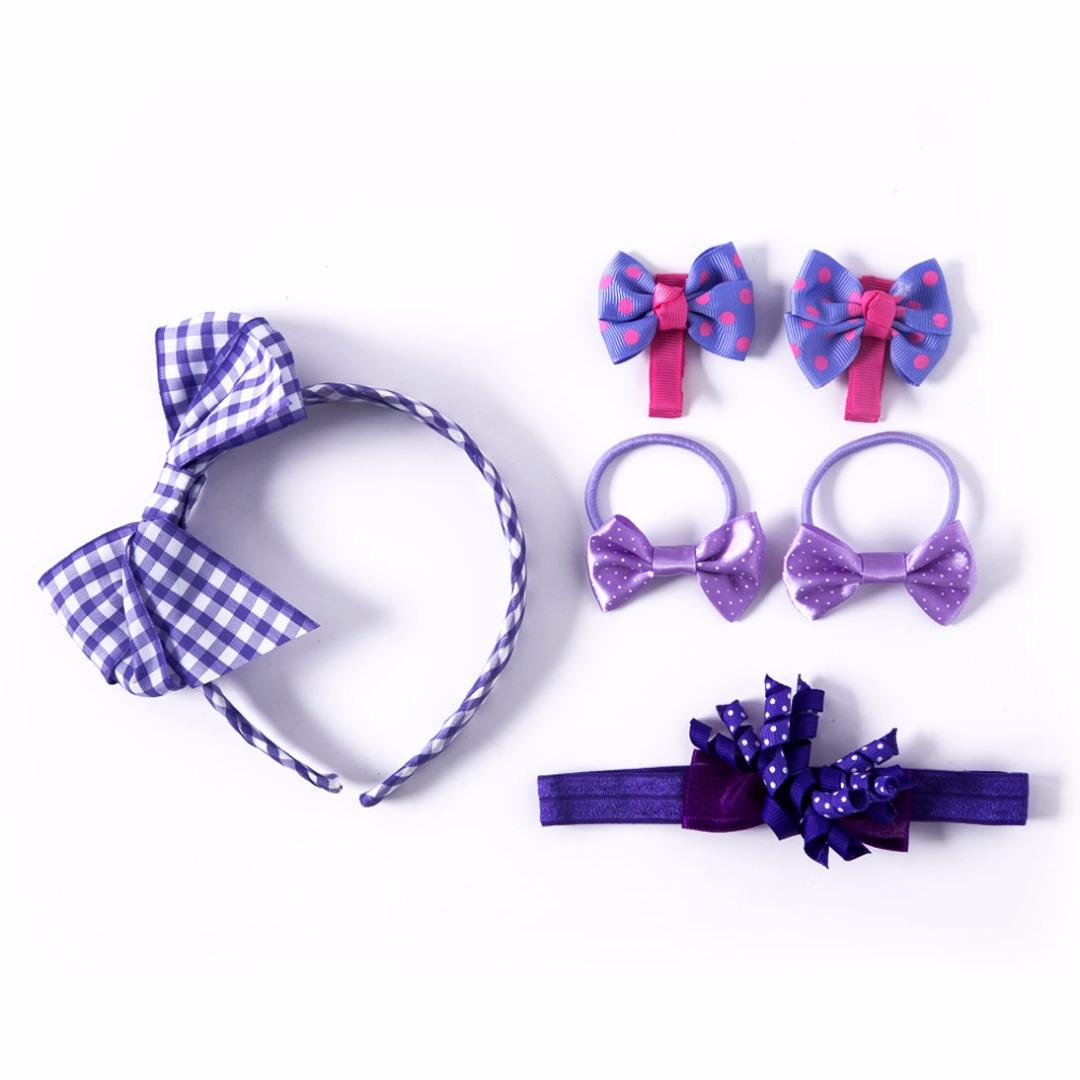 Purple Bow Set (6pc-set)