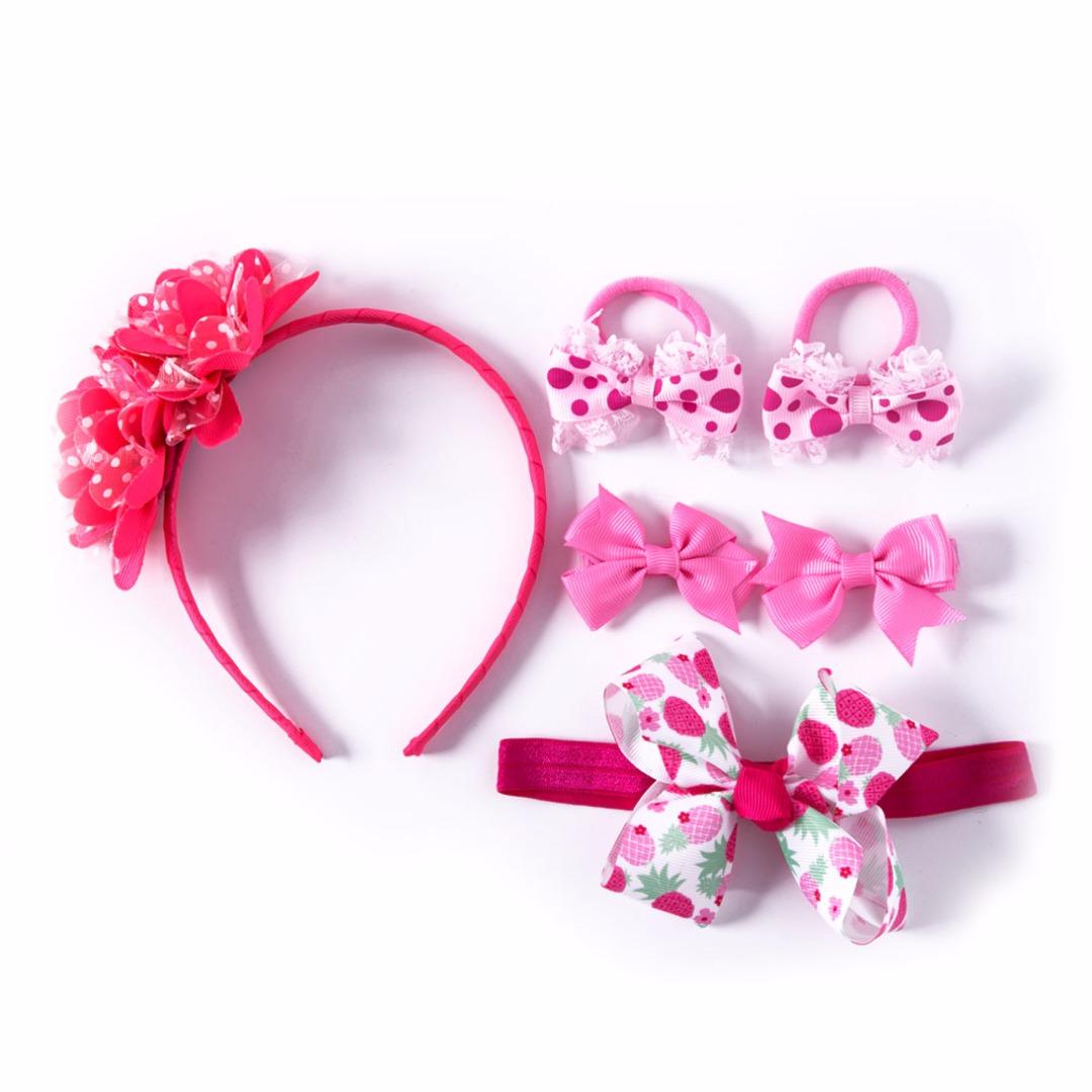 Bow & Flower Set (6pc-set)