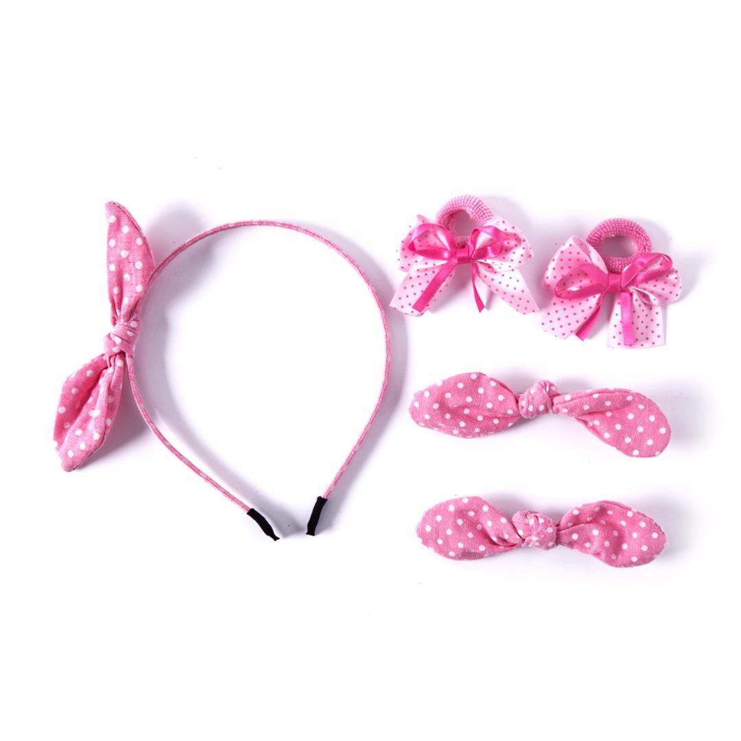 Pink Polka Dots Set (5pc-set)