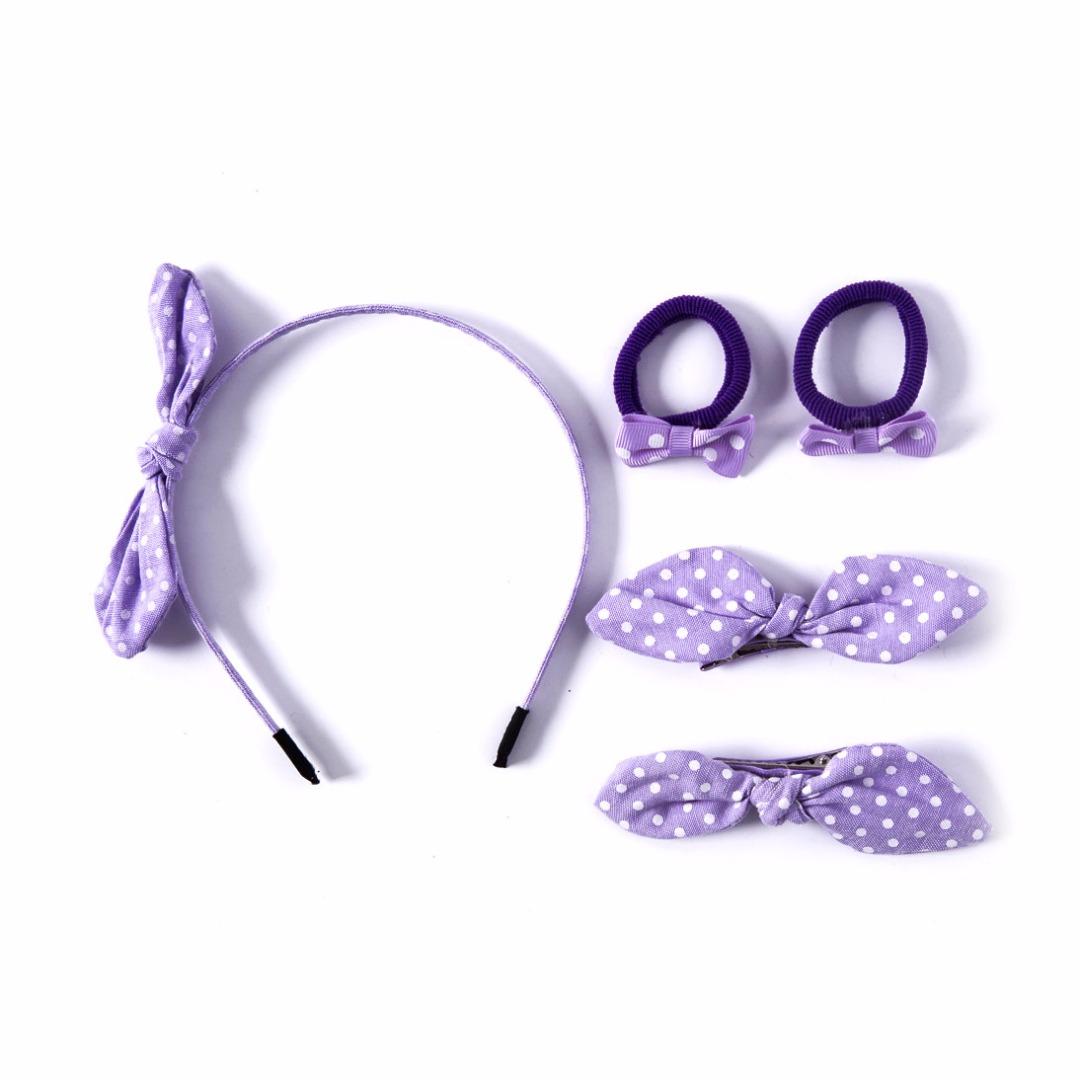 Purple Polka Dots Set (5pc-set)