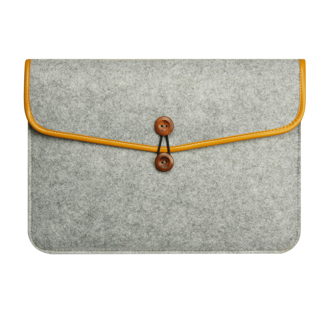 Deluxe Felt Tablet Sleeve in Light Gray