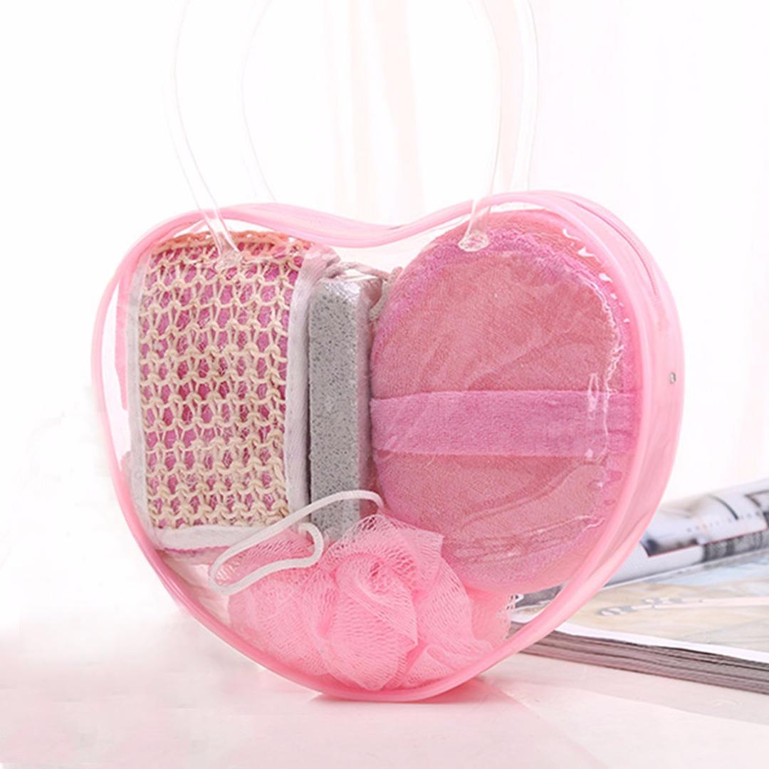 Pink Heart Bath Set (4pc-set)