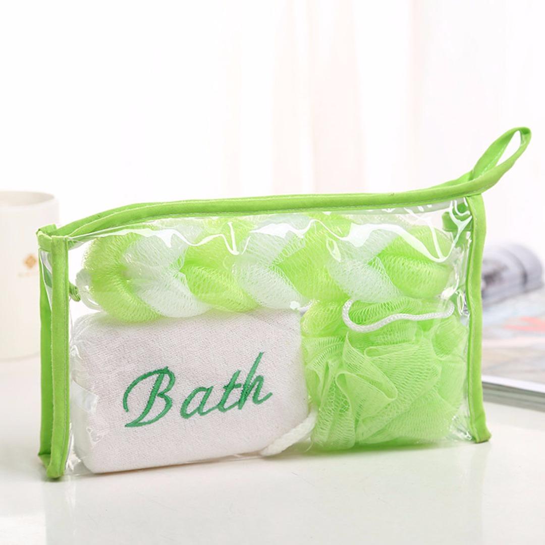 Green Bath Sponge Set (3pc-set)