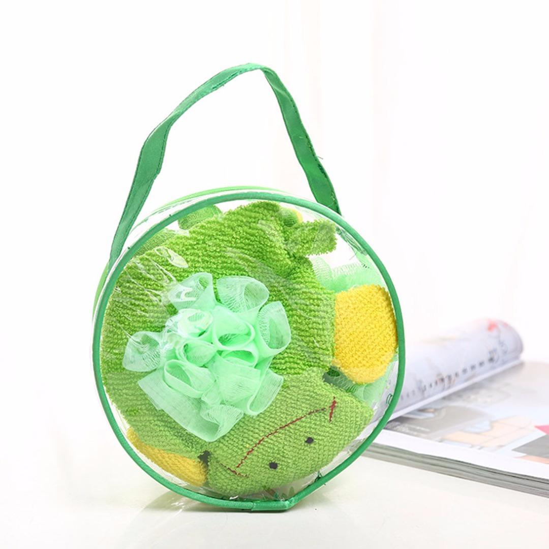 Adorable Frog Bath Sponge Set (4pc-set)