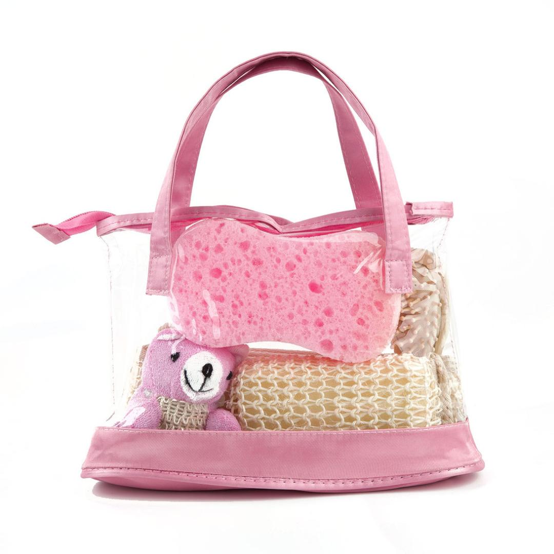 Pink Bear Bath Set (5pc-set)