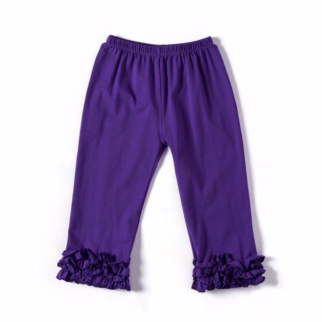 Pure Purple Ruffled Pants