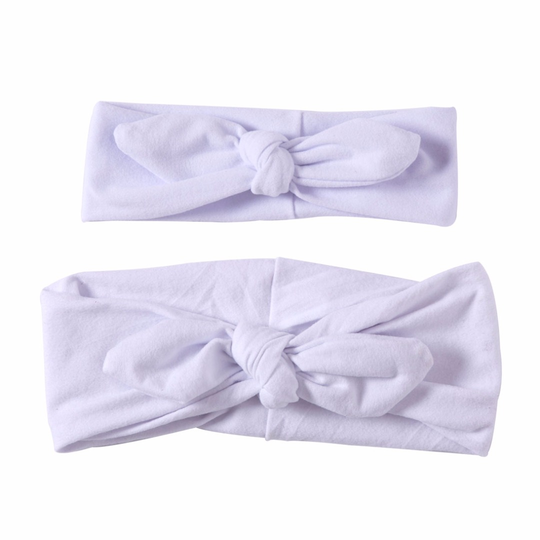 Lovable Matching Headbands in White
