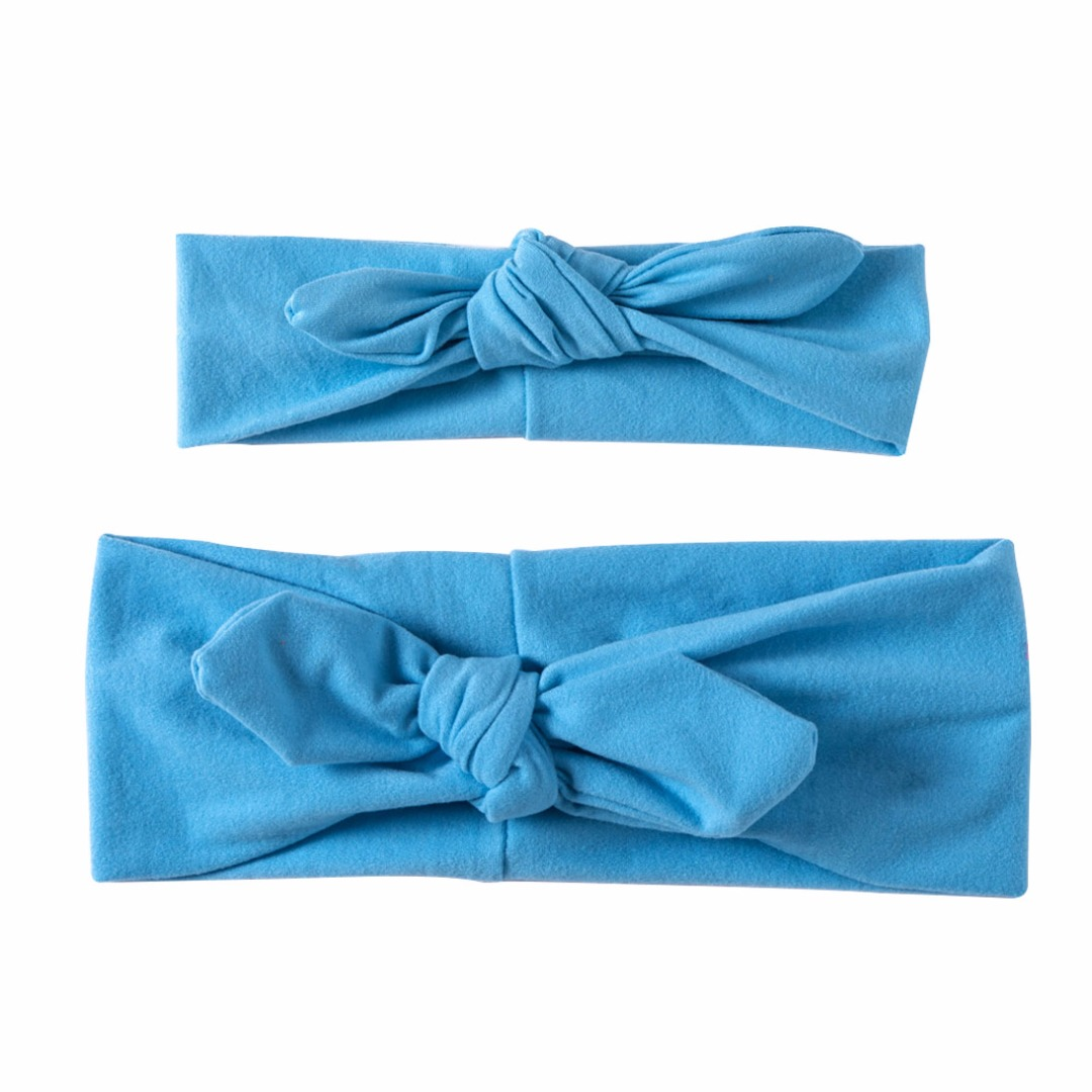 Lovable Matching Headbands in Sky Blue