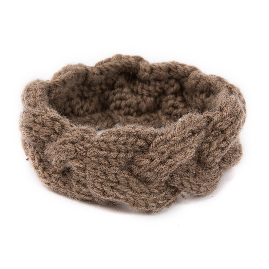 Waffle Knit Headband in Light Brown