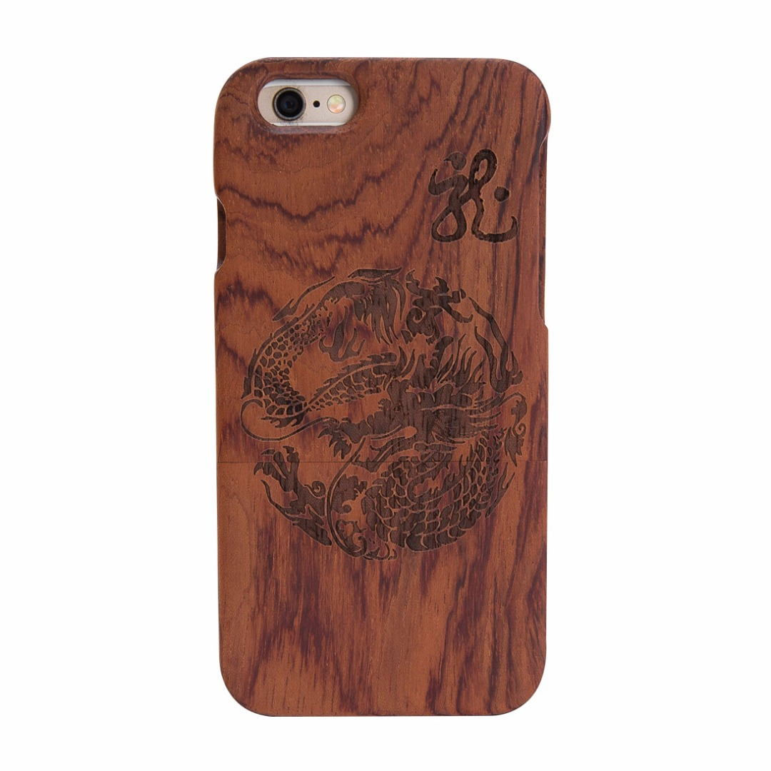 Dragon Carved Wooden Case for iPhone