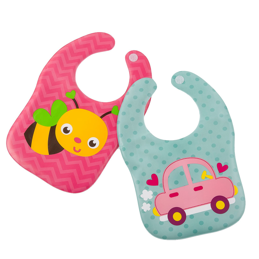 Quirky Bee and Car Bibs (2 pack)