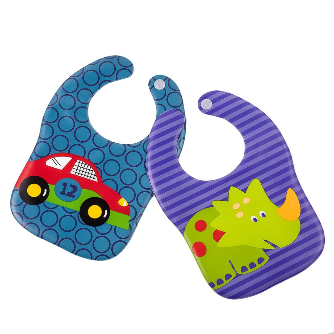 Fun Dino and Car Bibs (2 pack)