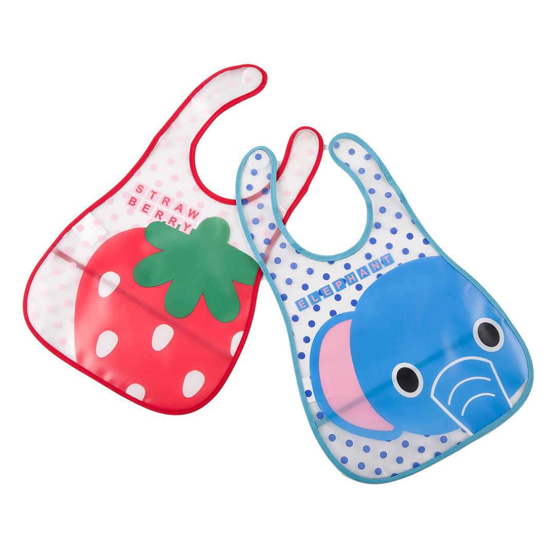 Elephant and Strawberry Bibs (2 pack)