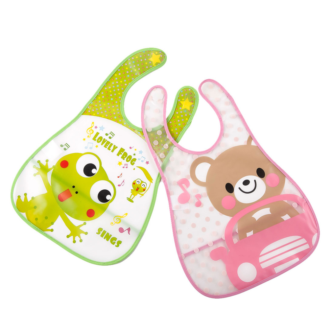 Frog and Bear Bibs (2 pack)