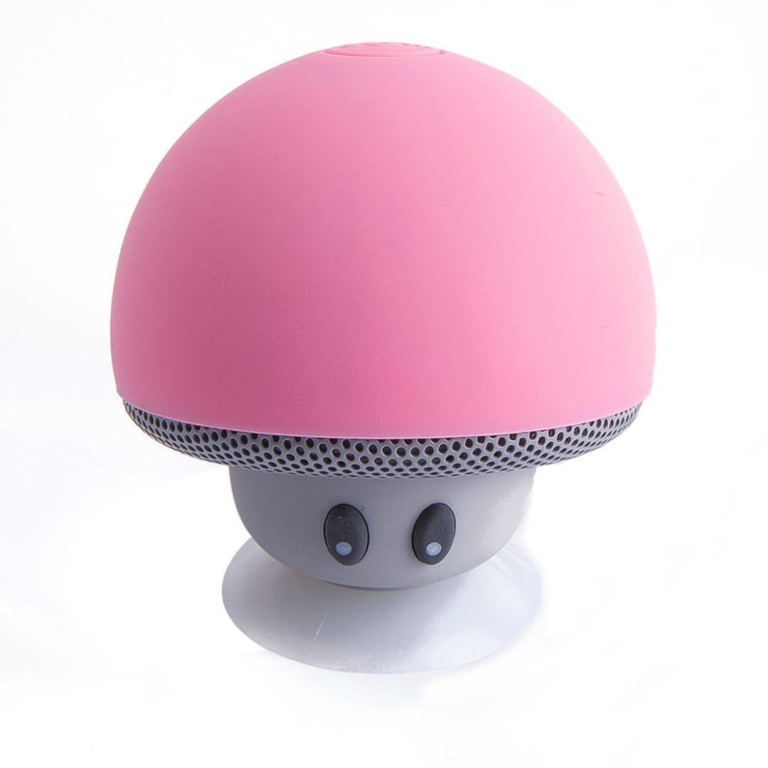 Adorable Mushroom Bluetooth Speaker in Pink