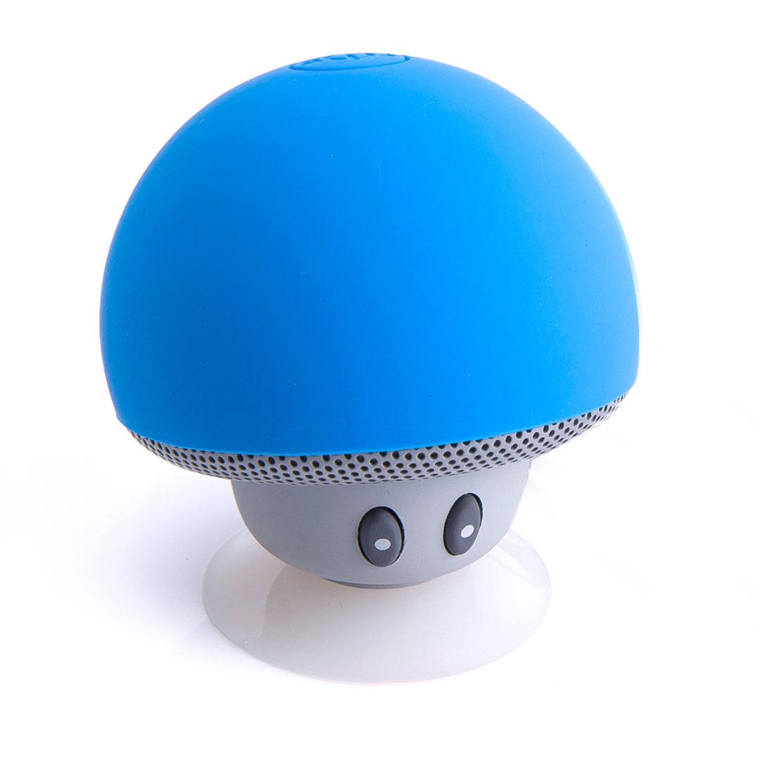 Adorable Mushroom Bluetooth Speaker in Blue