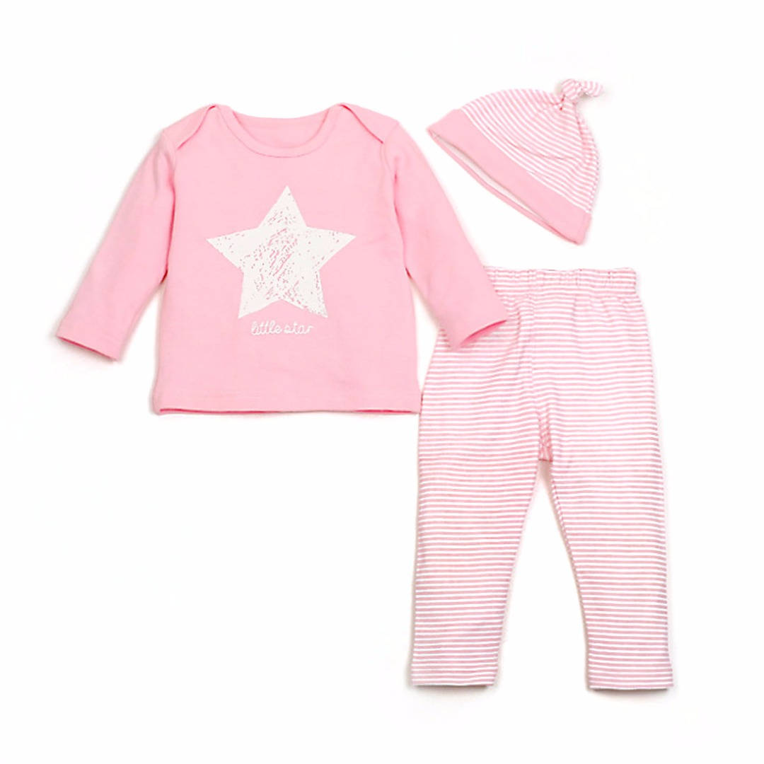 Star & Stripe Outfit in Pink (3pc-set)