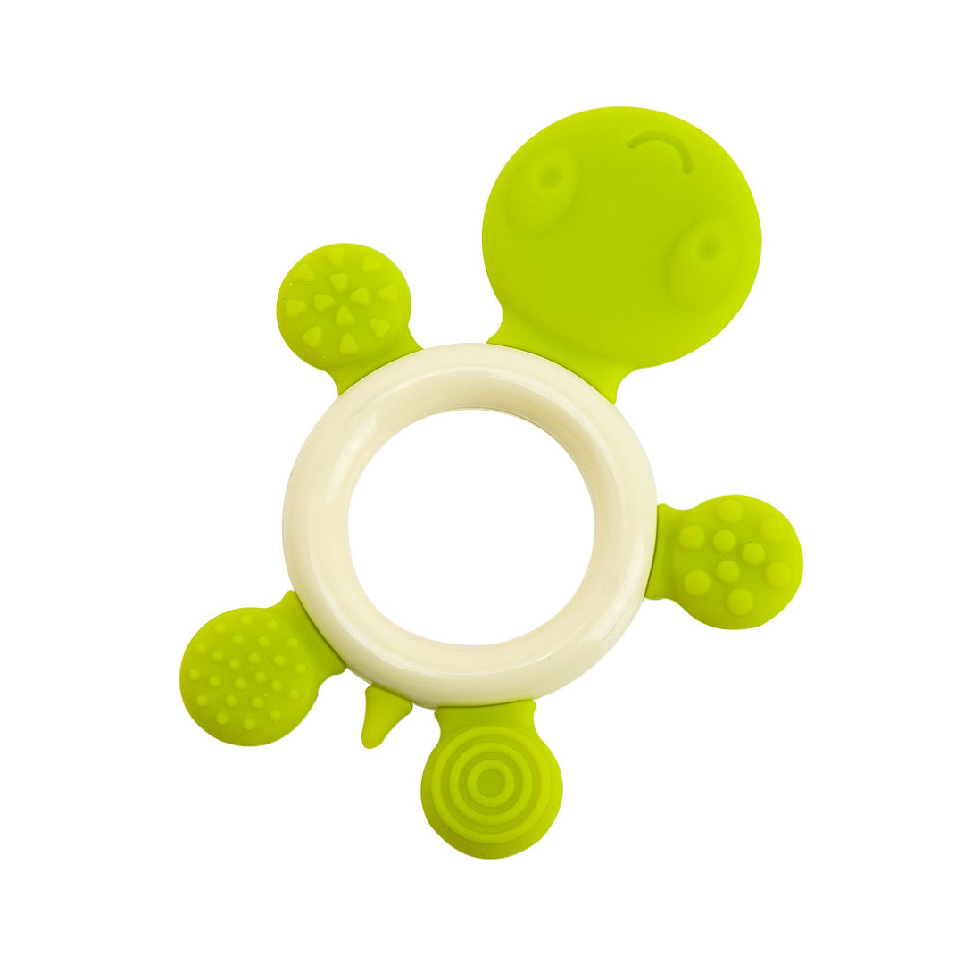 Adorable Turtle Teether in Green