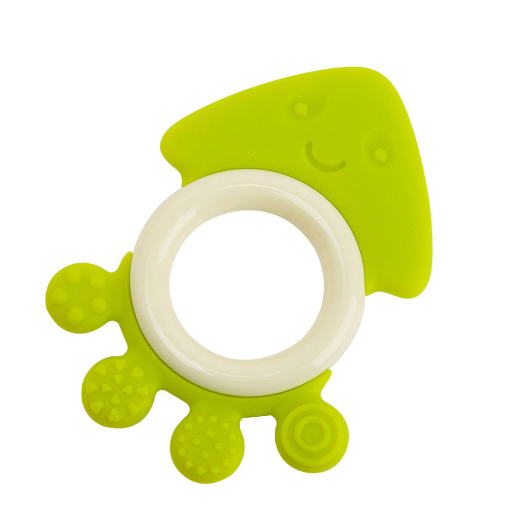 Adorable Octopus Teether in Green