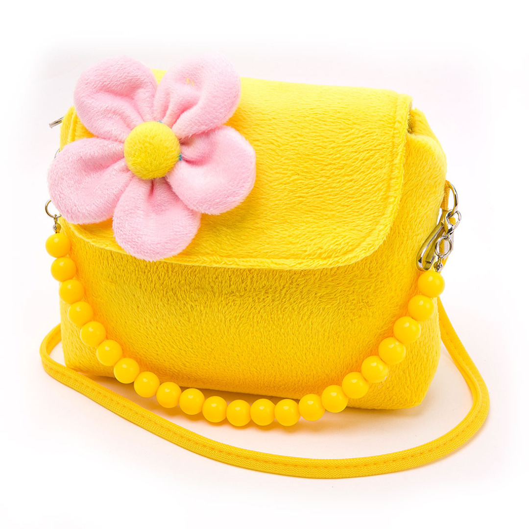Colorful Floral Purse in Yellow