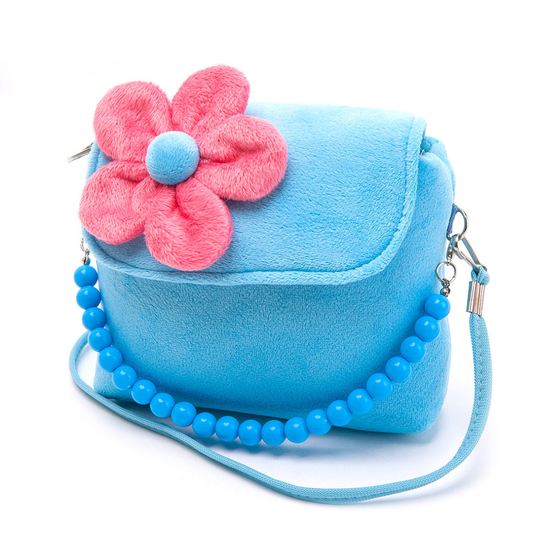 Colorful Floral Purse in Blue