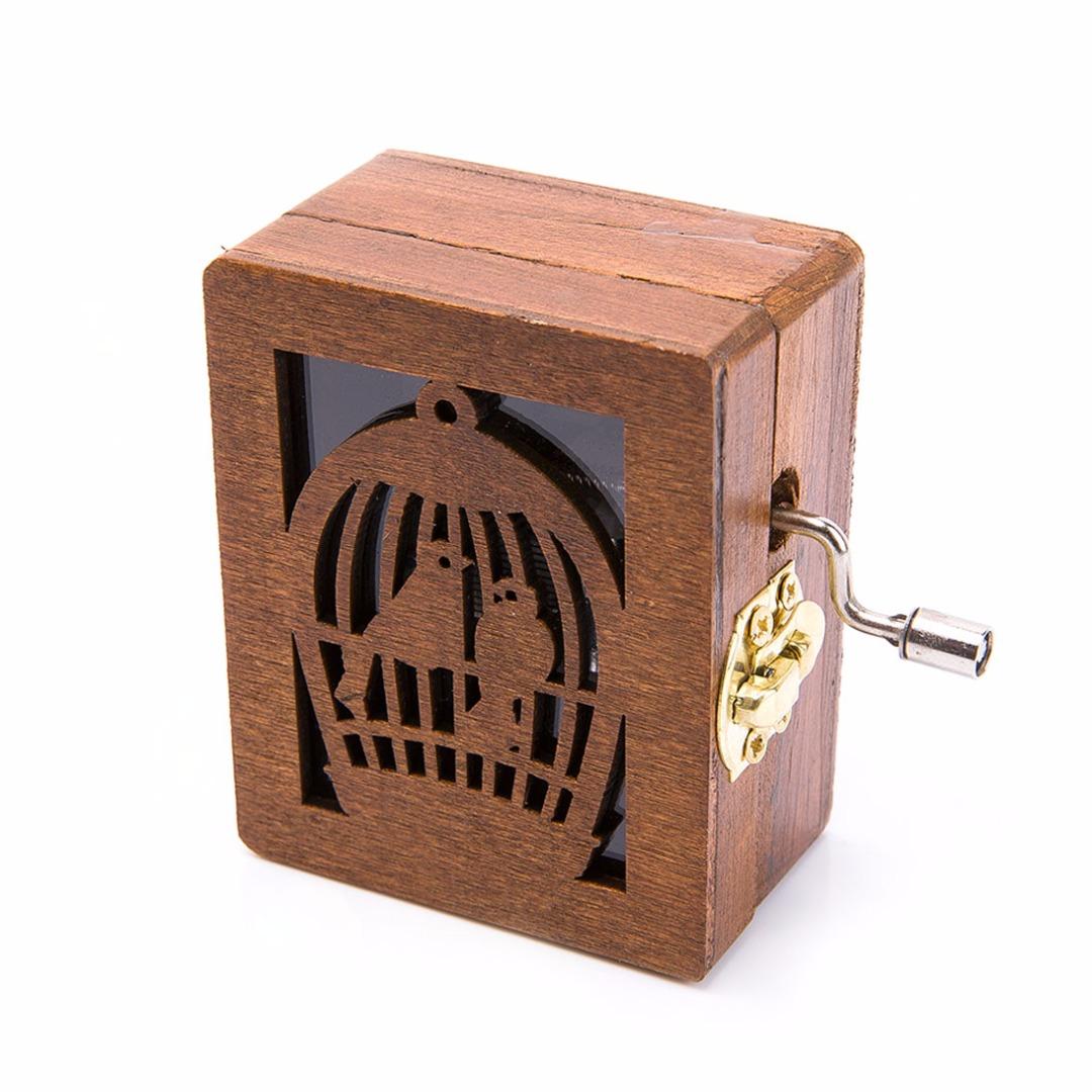 Wooden Birdcage Music Box