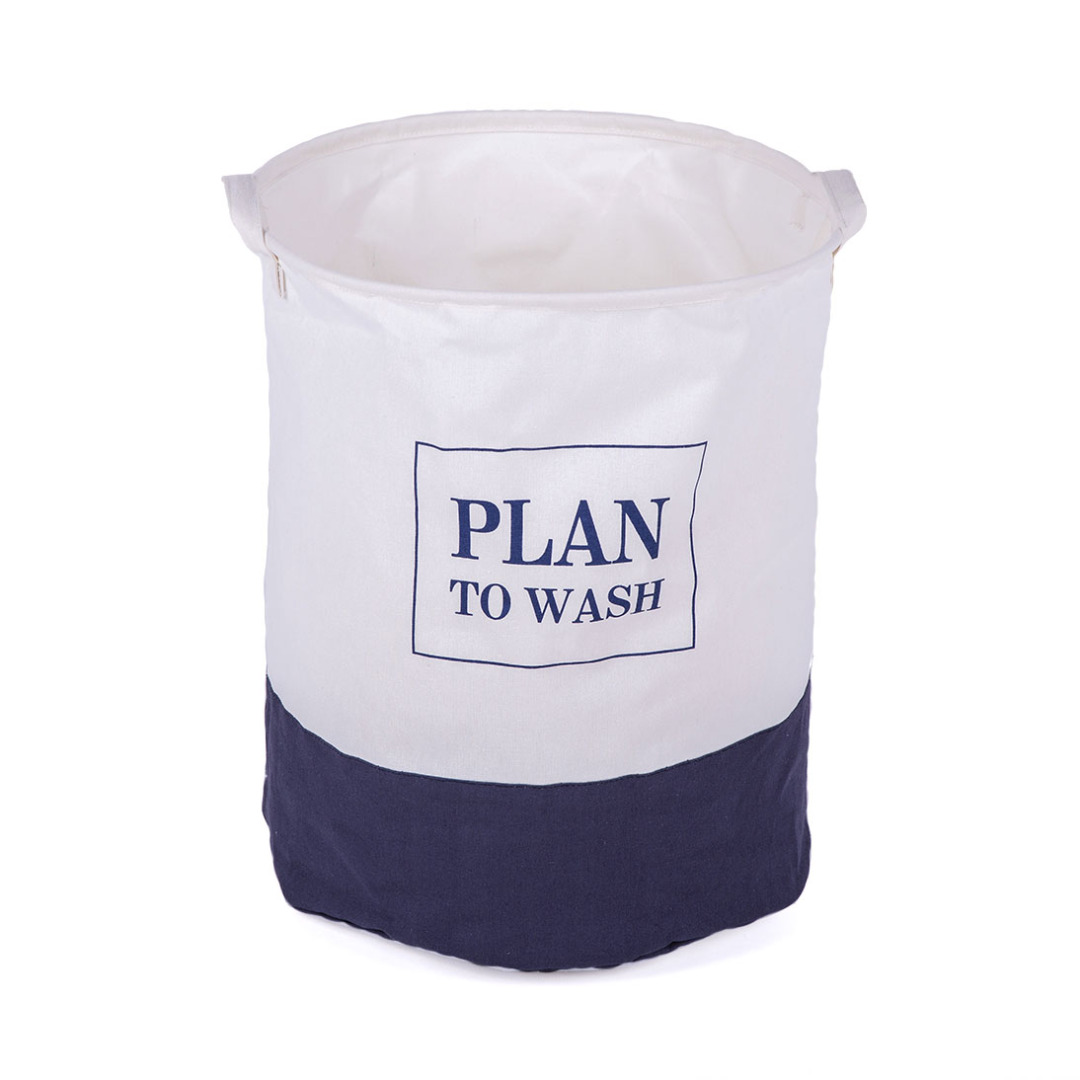 Plan to Wash Linen Laundry Hamper in Blue