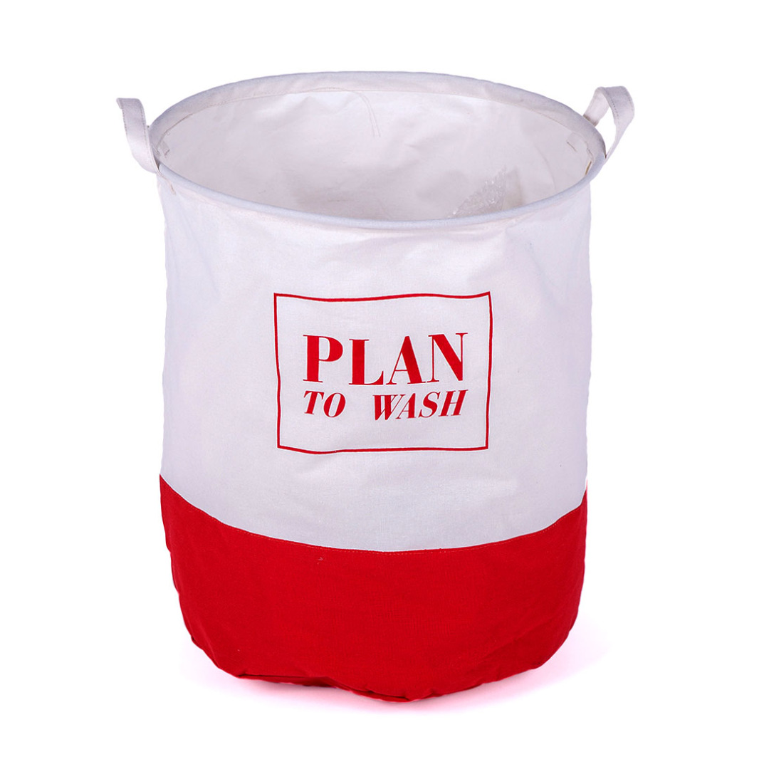 Plan to Wash Linen Laundry Hamper in Red