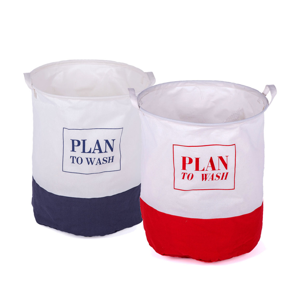 Plan to Wash Linen Laundry Hamper Set (2pc-set)