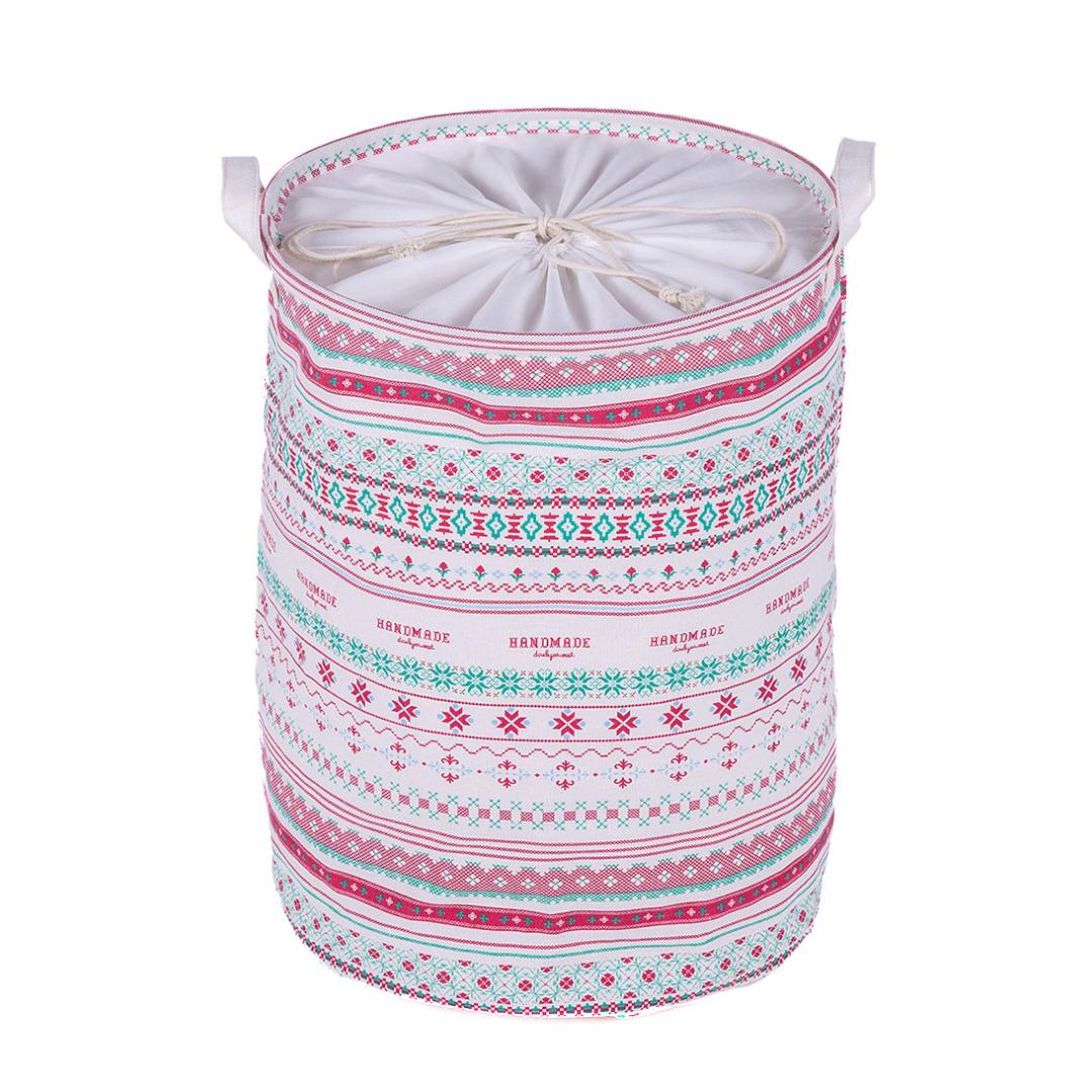 Boho-Chic Linen Laundry Hamper