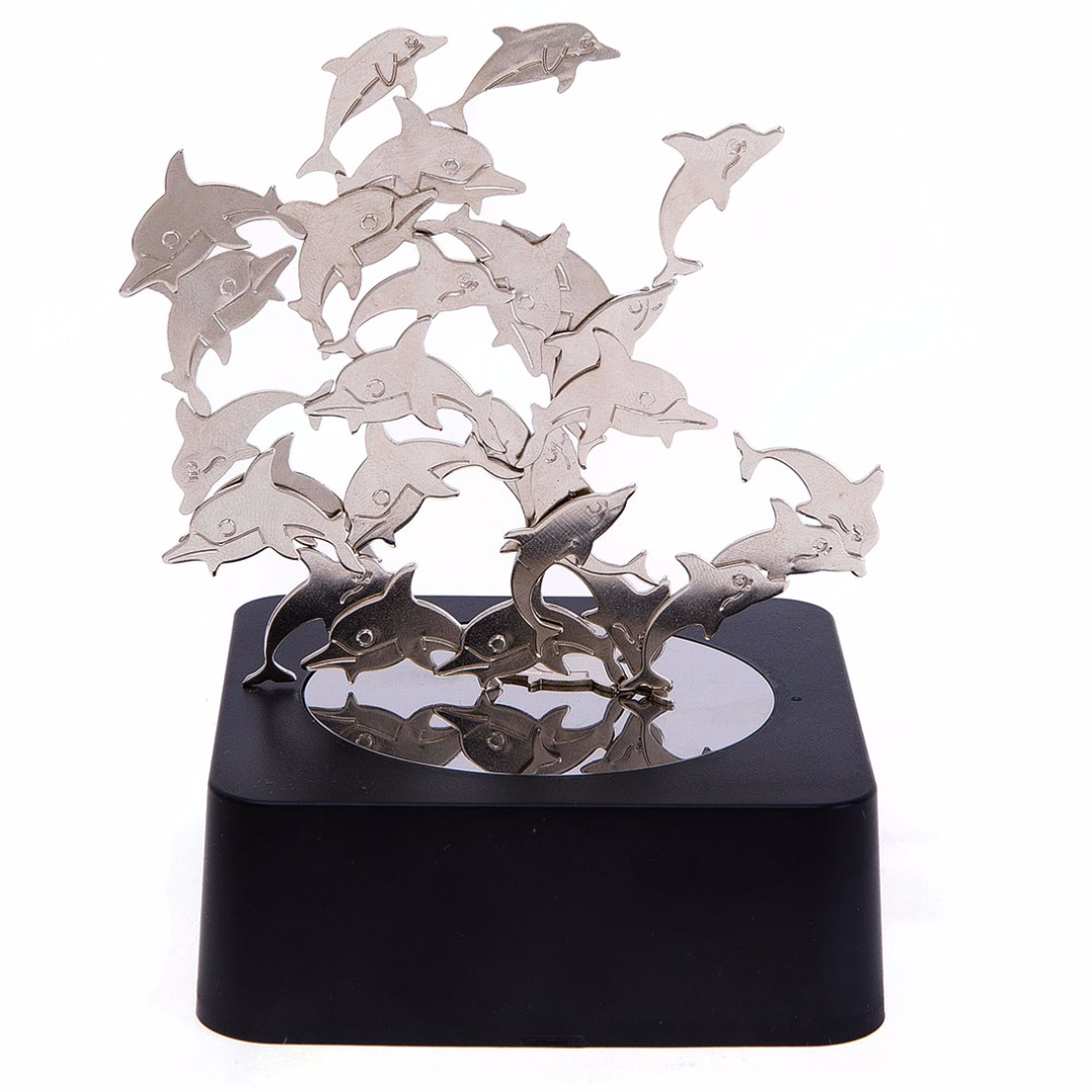 Dolphins Magnetic Sculpture Toy