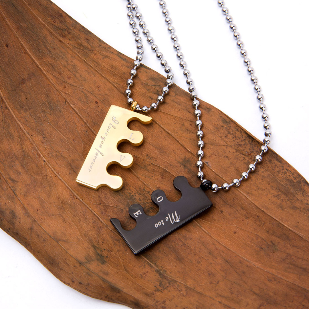Love Puzzle Matching Necklace
