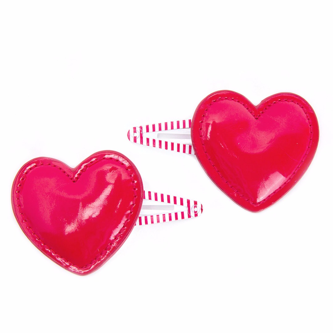 Red Heart Clips (2pc)