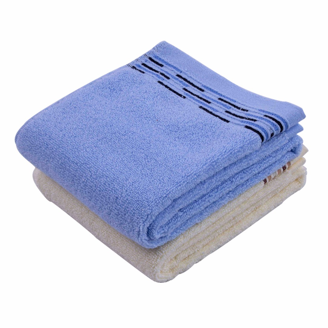 Blue and Beige Absorbent Towels (2 pack)
