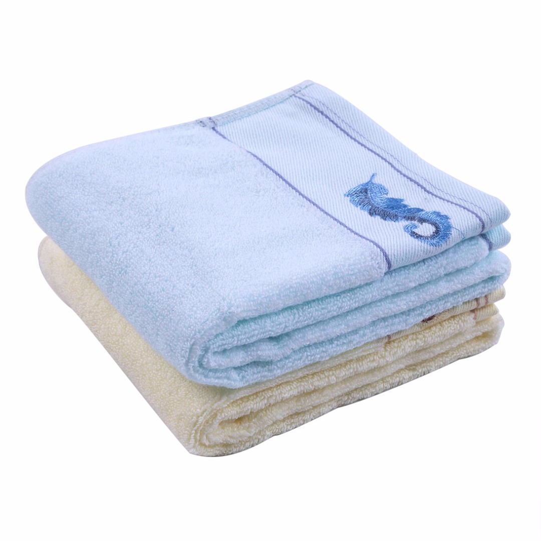 Light Yellow and Blue Towels (2 pack)