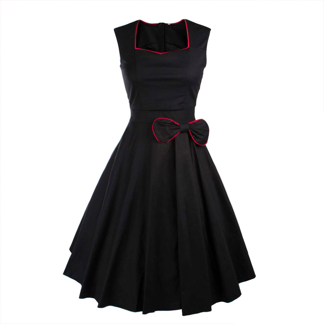 Perfect Sleeveless Dress in Black for Women