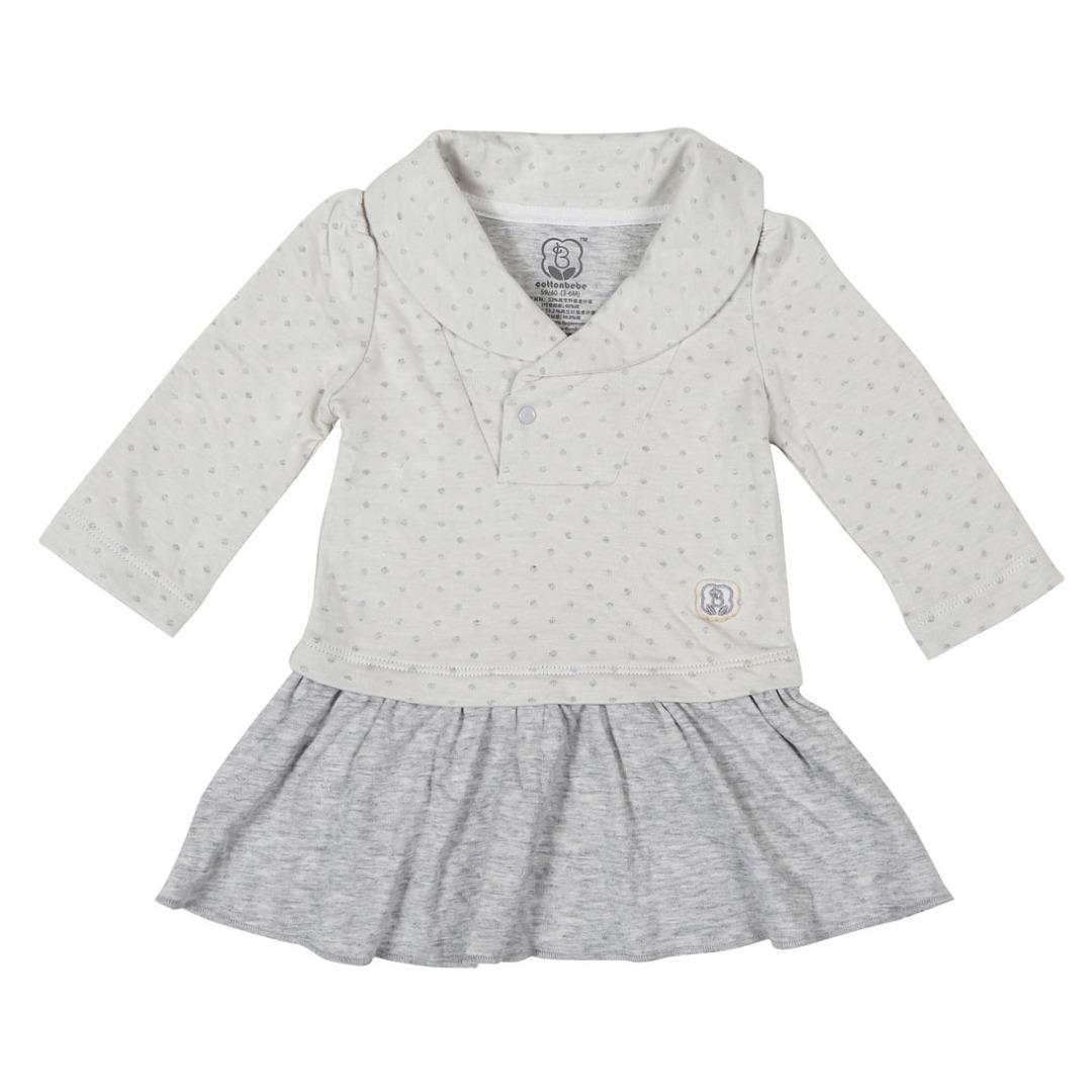 Sweet Shirt Dress in Grey